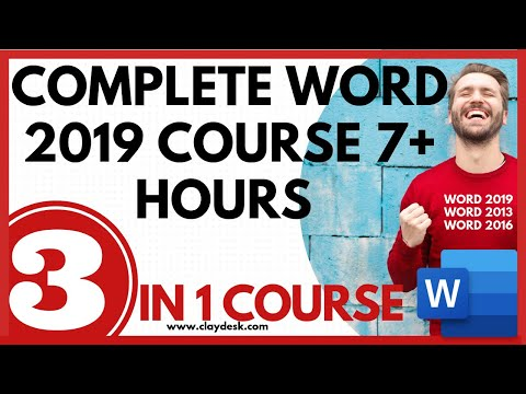 Complete word 2019 course: 7+ hours - YouTube