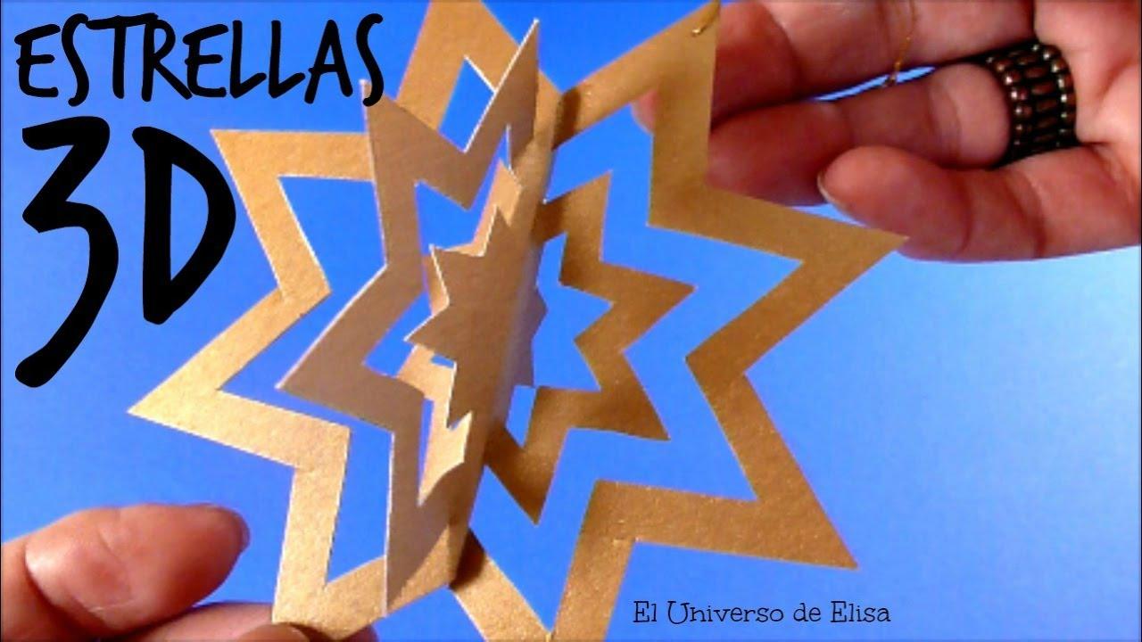 Decora tu Árbol de Navidad con Estrellas 3d, Manualidades para Naviddad