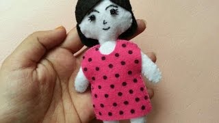 How To Make A Cute Felt Doll - DIY Crafts Tutorial - Guidecentral
