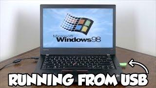 Installing Windows 98 on a Modern Laptop
