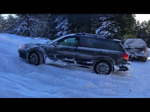 Subaru outback 3.0r vs Volvo XC70 in the snow