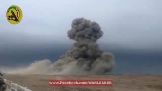 Война в Ираке. Мощный взрыв Хаммера со смертником.