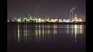水平線に並ぶ徳山の工場群山口県周南市「徳山卸商業団地」
