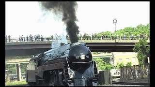 611 Locomotive Steam Train Arriving In Roanoke Virginia