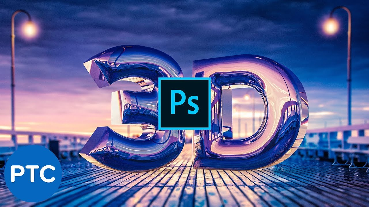 Create a REALISTIC CHROME TEXT Effect in Photoshop 3D [Easy