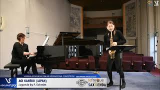 Aoi KANEKO plays Legende by F. Schmitt #adolphesax
