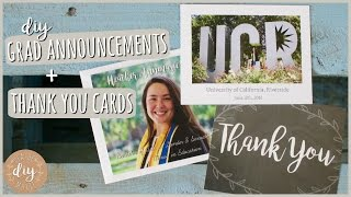 Graduation Is EXPENSIVE! DIY Grad Announcements & Thank You Cards