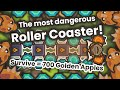 I built a LEGENDARY deadly roller coaster and asked to my subscribers to survive to it on Taming.io!