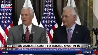 HISTORIC: David Friedman Sworn In as US Ambassador to Israel, VP Mike Pence Speaks (FNN)