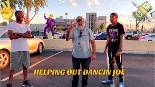 HOMELESS GUY DANCING TO PLUG WALK | LEE & DEV HELP OUT DANCIN JOE