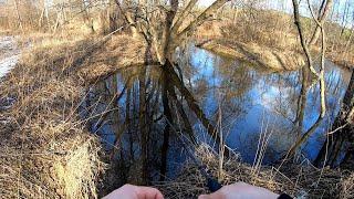 Ловля рыбы в марте на мелких реках