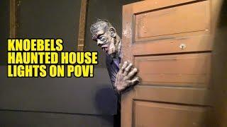 Knoebels Haunted House Dark Ride Lights On POV