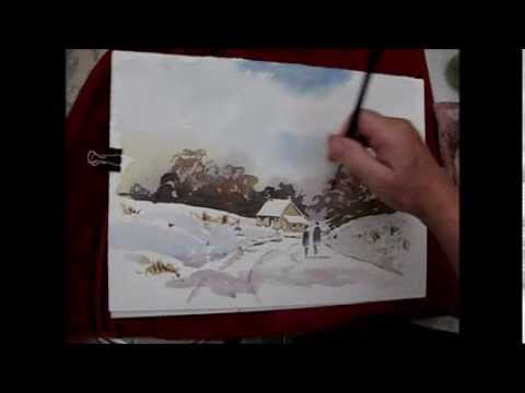 How To Paint A Winter Watercolour With Alan Owen Art