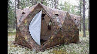 Палатки зимние двухслойные с печкой