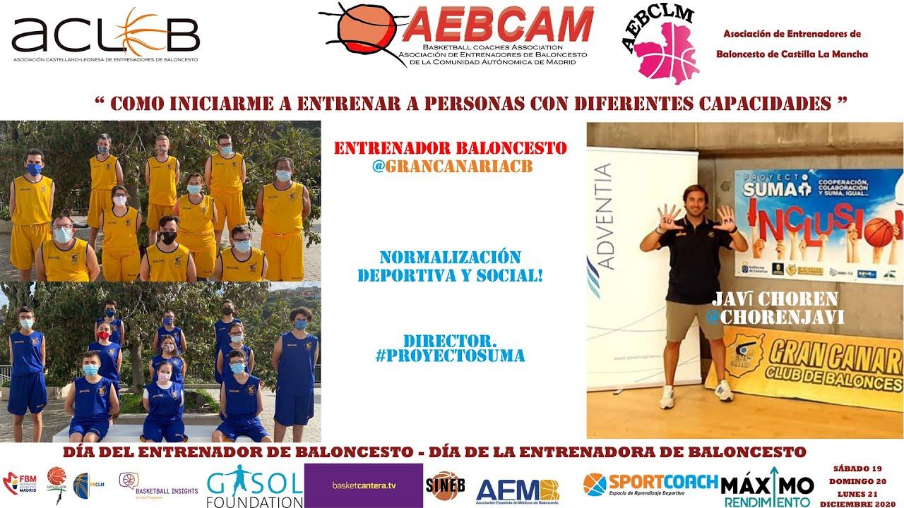 #FORMACIÓN: Cómo entrenar a personas con diferentes capacidades. Por JAVIER CHOREN. Jornadas Online.
