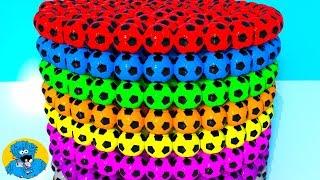 Learn Colors with Colorful Soccer Balls,Учим Цвета,Aprendizaje a Color con Bolas de Colores