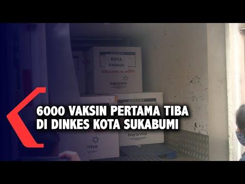 6000 Vaksin Pertama Tiba Di Dinkes Kota Sukabumi