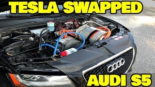 Hands on with Worlds First Tesla Powered Audi!