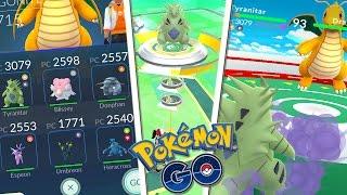 Donphan  - (Pokémon) - Pokémon GO Batallas en Gimnasio Tyranitar Blissey Donphan Espeon Umbreon Heracross - Keibron Gamer