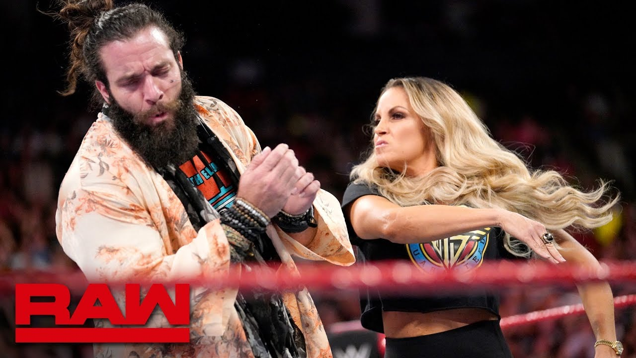 Trish Stratus interrupts Elias: Raw, Aug. 27, 2018