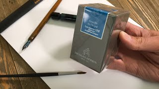 Jacques Herbin 1798 Kyanite Du Népal Fountain Pen Ink Unboxing And Review And Giveaway