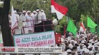 Indahnya Islam Usai Demo Gempur Ahok Ormas Islam Shalat Ashar Berjamaah