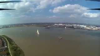 preview picture of video 'SkySessions- The Tallships Depart London- Quadcopter Onboard Thames River Thamesmead'
