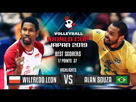 Highlights   Poland vs. Brazil   Wilfredo Leon vs. Alan Souza   World Cup 2019