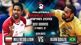 Highlights | Poland vs. Brazil | Wilfredo Leon vs. Alan Souza | World Cup 2019