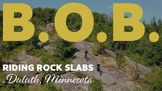 Rock Slabs in Duluth - Riding BOB