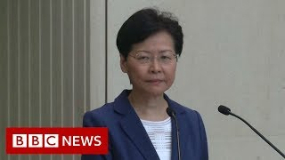 Hong Kong: Carrie Lam pressed on her power to withdraw extradition bill - BBC News