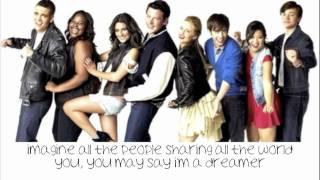 Imagine  - Glee cast (Lyrics)