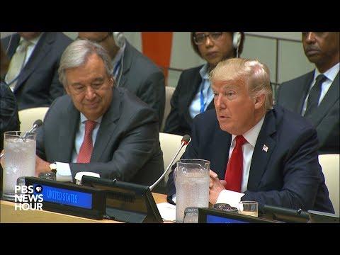 President Trump, Ambassador Haley and Secretary-General Guterres speak at UN reform meeting