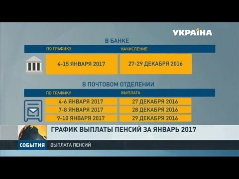 Пенсии за январь выплатят уже в декабре