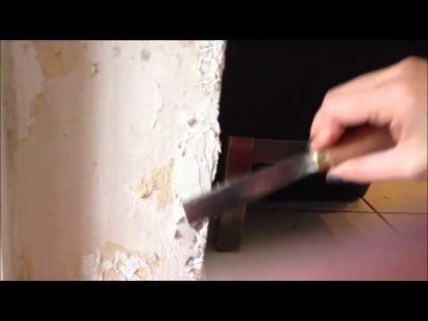 Raufaser Tapeten Reparatur Spachtel - schnellund einfach zum selberreparieren  tutorial