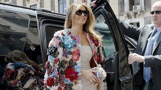 Melania Trump wows in $51,000 floral jacket