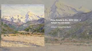 Flute Sonata in E minor, BWV 1034