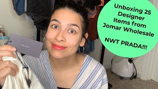 Unboxing Jomar Wholesale 25 Flawed Designer Clothing Box To Resell Online - NWT PRADA?!?