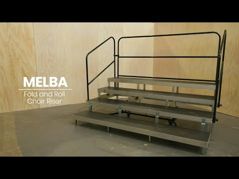 How to assemble MELBA Fold & Roll Portable Choir Riser by Select Staging Concepts