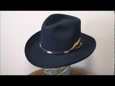 Stetson 4X Beaver Black Fur Felt Western Cowboy Hat c6b6164eb4c3