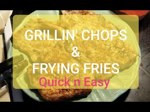 Grilling Out with Baby Daddy | Pork Chops & Fries