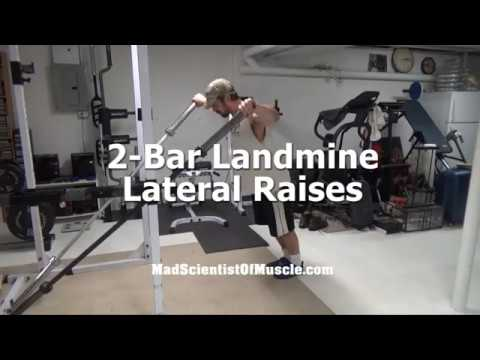 Build Wider Shoulders With 2-Bar Landmine Lateral Raises