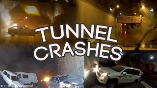 Tunnel Crash Compilation! New! 20 minutes!