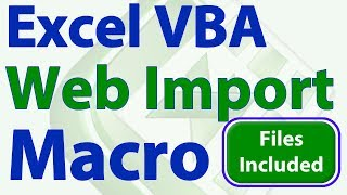 Import Web Data to Excel using VBA Macros