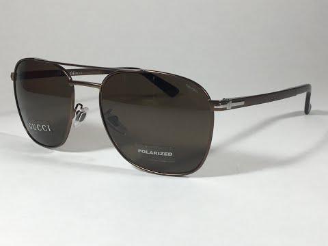 db0e6f83e13 New Authentic Gucci Polarized Aviator Pilot Sunglasses Matte Brown   Bronze  GG2270 - YouTube