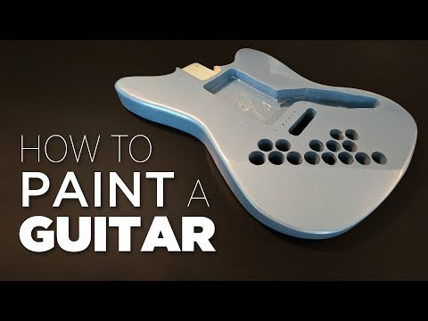 How To Spray Paint A Guitar - Start to Finish