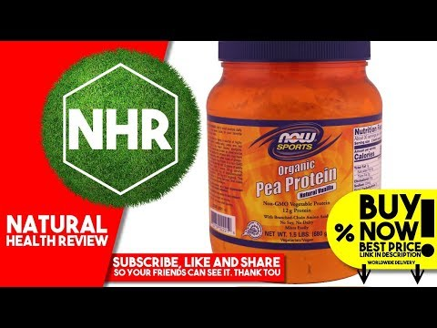 Now Foods, Sports, Organic Pea Protein, Natural Vanilla, 1 5 lbs 680 g