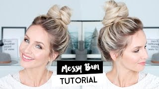 Easiest & Fastest Messy Bun Tutorial Ever | OH HEY VIVIENNE