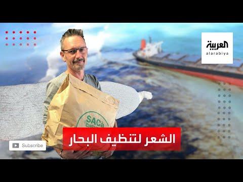 العرب اليوم - شاهد لفائف الشعر في فرنسا أحدث طريقة لتنظيف البحار من الزيوت العالقة فيها