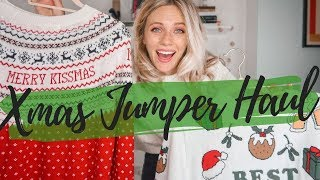 Christmas Jumper HAUL  & TRY ON 2019 | 19 jumpers - from bad to worse | JESSICA CHELSEA